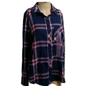 New WOOLRICH Plaid Button Down Flannel Small